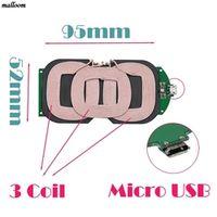 malloom Sannysis 3 Coils Qi Wireless Charger PCBA Circuit Board Charging