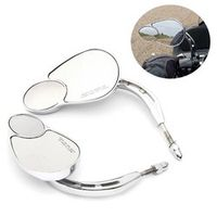 1 Pair Chrome Motorbike Rear View Mirrors For Harley Touring Road King Classic SOFTAIL DELUXE
