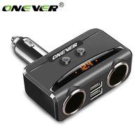 Onever Cigarette Lighter Socket Splitter 12V-24V 5V 3.1A Dual USB with Voltmeter