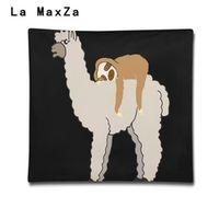 La MaxZa Llama Sloth 3D Printing Pillows Lseat Support Car Office Chair Seat Cushion