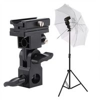 Hot Shoe Flash Umbrella Holder Light Stand Bracket For Photo Video Photography Light Stand Bracket Flash Umbrella Holder