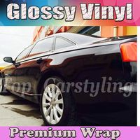 Gloss BLACK Vinyl Car Wrap Film With Air release PROTWRAPS Shiny piano Glossy Vehicle