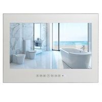 "YAWATER 15.6"" Bathroom Mirror Waterproof LED TV with DVB-T FreeView ATSC HDMI USB"