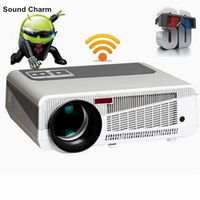 Sound charm 5500lumen Android4.4 HD LED Wifi Smart Projector 230W 3D home theater LCD