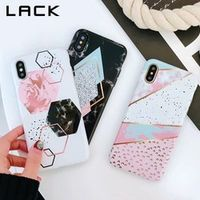 LACK Candy Color Marble Phone Case For iphone X Case For iphone 6S 6 7 8 Plus Funny