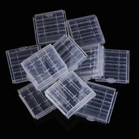 Soshine Practical-10x Plastic Case Holder Storage Box Cover for Rechargeable AA