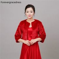 Forevergracedress Real Pics Red 2018 Winter Faux Fur
