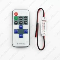 30Set Car DC 5-24V Single Color Remote Controler Dimmer 11keys Mini Wireless RF LED Controller for LED Strip Light #J-3941