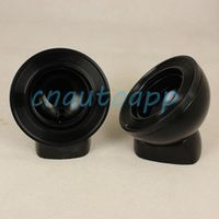 Car Tweeter Aluminium Base Speaker Boxes - Black One Pair