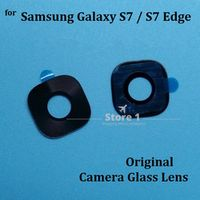 2pcs/Lot Original Camera Glass Lens for Samsung Galaxy S7 / S7 Edge Rear Camera Lens Replacement Part with Adhesive Sticker