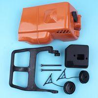 Haishine Top Engine Cover Brake Handle Guard Muffler for Stihl 017 018 2pc