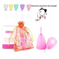 Reusable Menstrual cup medical grade silicone/lady period cup/Diva Cup/alternative tampons sanitary pads Feminine hygiene vagin