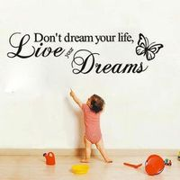 DCTOP Don't Life Art Vinyl Quote Wall Stickers Wall Decals