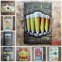 Younger Decor Ice Cold Beer Here Painting Metal Tin Signs
