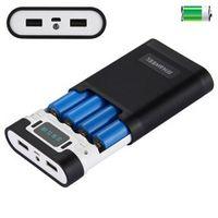 HAWEEL DIY 4x 18650 Battery Portable 10000mAh Power Bank Shell Box 2 USB for iPhone