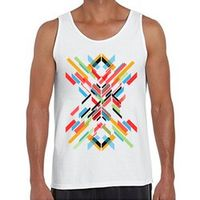 2016 Keep the Record Alive Design Men Tank Tops Fractal Pattern Retro Wood Printed O-neck Casual Vest Hipster Tops