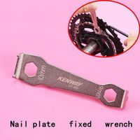 RISK Fixed Bicycle Repair Tool Steel Mountain Bike Crankset Nail Disassembly Wrench