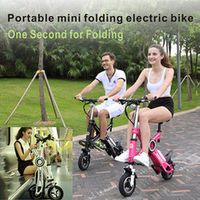 Portable mini folding electric bicycle