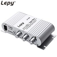 Lepy 12V MiNi Portable HiFi Super Bass Car Subwoofer 3.5mm Audio Stereo Amplifier