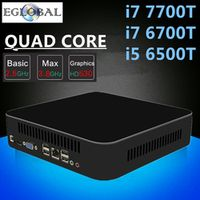 Eglobal Intel Quad Core i7 7700T 6700T i5 6500T High-end Mini PC Gaming Computer