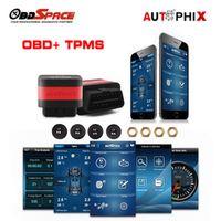 Autophix OT100 OBD2 Scanner Tire Pressure Alarm System with 4 TPMS Sensor OBD 2in