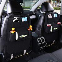 MOQIU Car Seat Back Storage Bag Drink Phone Organizer Nets Car Style Durable