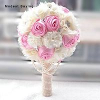 modest saying Romantic Pink Artificial Flowers