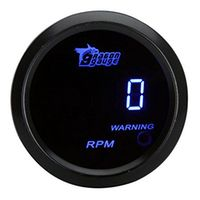 ANENG 52mm 2 inch LCD 0 9999RPM Tachometer Gauge for Auto Car with Warning Light -