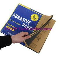 "30 Sheets Waterproof Sandpaper 400 600 800 1000 1500 Grit Sandpaper Skin Abrasion Polished Paper 28x23cm/11""x9"" Wet/Dry"