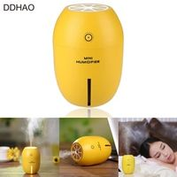 DDHAO USB Powered 180ML Mini In-Car Lemon Humidifier for Car Bedroom Office