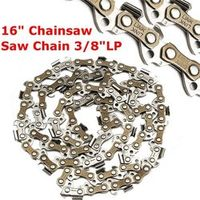 "1pc 16"" Metal Chainsaw Chain Saw 3/8 LP Blade 050 Gauge For Generic Durable Quality"