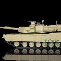 2.4Ghz HengLong 1/16 USA M1A2 Abrams RTR RC Tank Model Plastic Ver Sound 3918