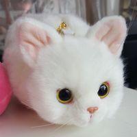 OCHGEP Pico White Three-color Plush Backpacks Funny Kitty