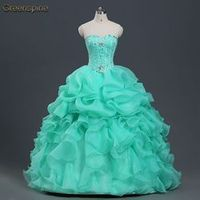 Greenspine Watermelon Red Quinceanera Dresses Ball Gown