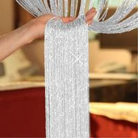 HOUSEEN String Sparkle Curtains Patio Fly Screen Window