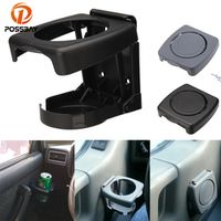 POSSBAY Black /Grey SUV Vehicle Folding Beverage Drink Bottle Can Coffee Mount Stand