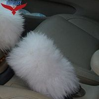 KUNBABY 1 Piece Car Accessory Long 100% Sheep Fur Plush Handbrake Cover Woolen Soft