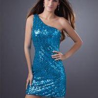 cecelle Sparkly Blue Cocktail Dresses Mini Party Dresses