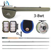 Maximumcatch 5WT Fishing Combo 9FT Medium-fast Rod Pre-spooled Reel 5F Fly Line