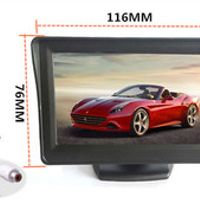 4.3-inch color TFT LCD monitor display Car parking rearview backup 4.3'' video