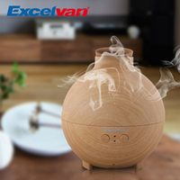Excelvan 20006A 500ml Ultrasonic Humidifier Essential Oil Diffuser Mist Maker Aromatherapy Diffuser Air Purifier Woodgrain