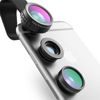 AUKEY Fish eye Lens 3in 1 Clip-on Cell Phone Camera 180 Degree Fisheye Wide Angle