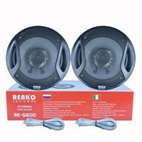Reakosound 2pcs 6 Inch 60W 90dB 2-Way Car Coaxial 4OHM Auto Audio Music Stereo Full
