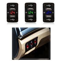 Urbanroad Dual USB Car Charger Cigarette Socket 5v 2.1A Port Phone Led Voltmeter