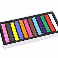 LIXUAN Non-toxic Soft Crayons Pastel Kit Temporary Chalk Dye Beauty Hair Color