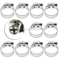 """10Pcs Adjustable Stainless Steel Drive Hose Clamp Fuel Line Worm Clip 1/2""""-3/4"""" Drop shipping #G205M# Best Quality"""