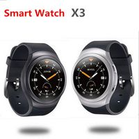 GoldenSpike X3 Android 4.4 MTK6580 Quad Core Bluetooth Smart Watch 512MB Heart Rate