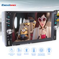 Excelvan 7651D 2Din 6.6'' Touch screen 800*480 Bluetooth Car MP5 Player Media Auto
