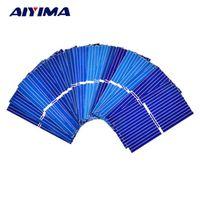 Aoshike 100pcs 0.12W 0.5V 0.24A 3919 39*19mm Polycrystalline Silicon Solar Panel
