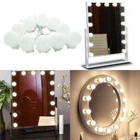 AIBOO Makeup Vanity LED Light Bulbs Kit for Dressing Table with Dimmer Power Supply